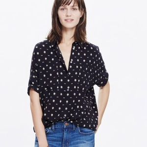 Madewell orsa print button down shirt size xxs